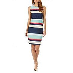 Sugarhill Boutique - Multicoloured eliza summer stripe a-line midi dress