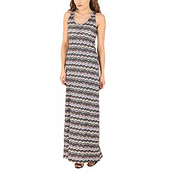 Mela - Grey zigzag maxi dress