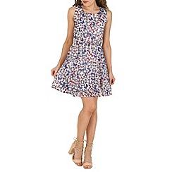 Mela - White butterfly print dress