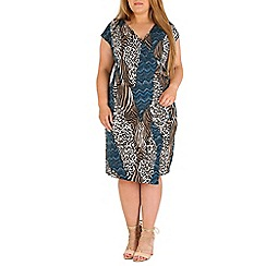 Samya - Blue abstract animal print dress