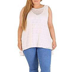 Samya - Cream crochet lace vest
