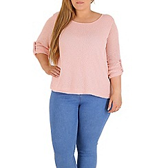 Samya - Pink oversized rolled cuff top