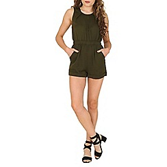 Cutie - Green pleated playsuit