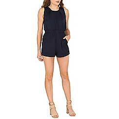 Cutie - Navy pleated playsuit