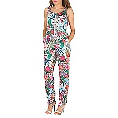 Cutie - Green tropical flower jumpsuit