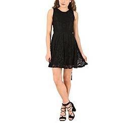 Mela - Black daisy lace dress