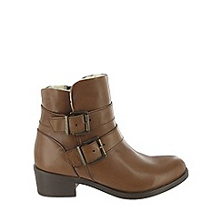 Marta Jonsson - Brown double buckle boots