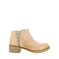 Marta Jonsson - Brown silver zipped ankle boots