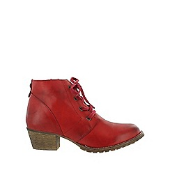 Marta Jonsson - Red lace up ankle boot