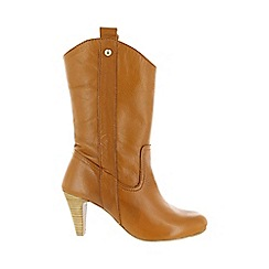 Marta Jonsson - Brown mid calf boot