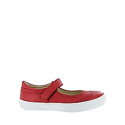 Marta Jonsson - Red leather sneaker with brogue