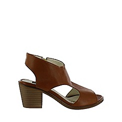 Marta Jonsson - Brown leather chunky heel sandal