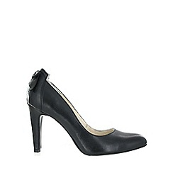 Marta Jonsson - Black leather court bow shoe