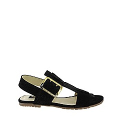Marta Jonsson - Black flat buckles sandal