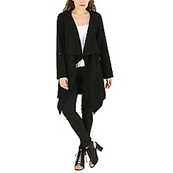 Voulez Vous - Black waterfall roll sleeve cardigan