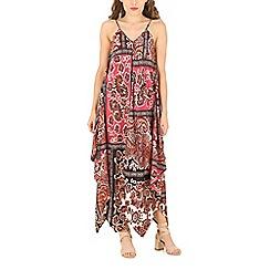 Voulez Vous - Red strap v-neck ethnic dress