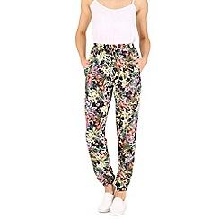 Voulez Vous - Black floral joggers