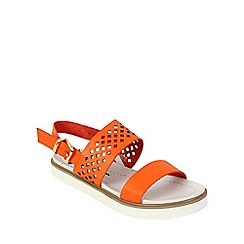 Betsy - Orange lattice flatform sandals