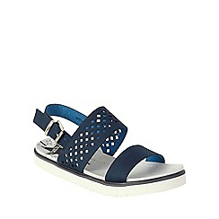 Betsy - Navy lattice design sandals