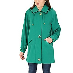 David Barry - Green faux silk rain jacket