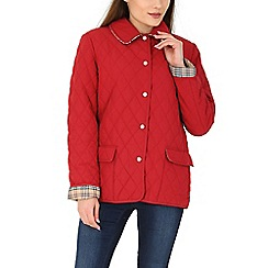 David Barry - Red quilted jacket