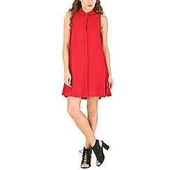 Voulez Vous - Red sleeveless swing shirt dress