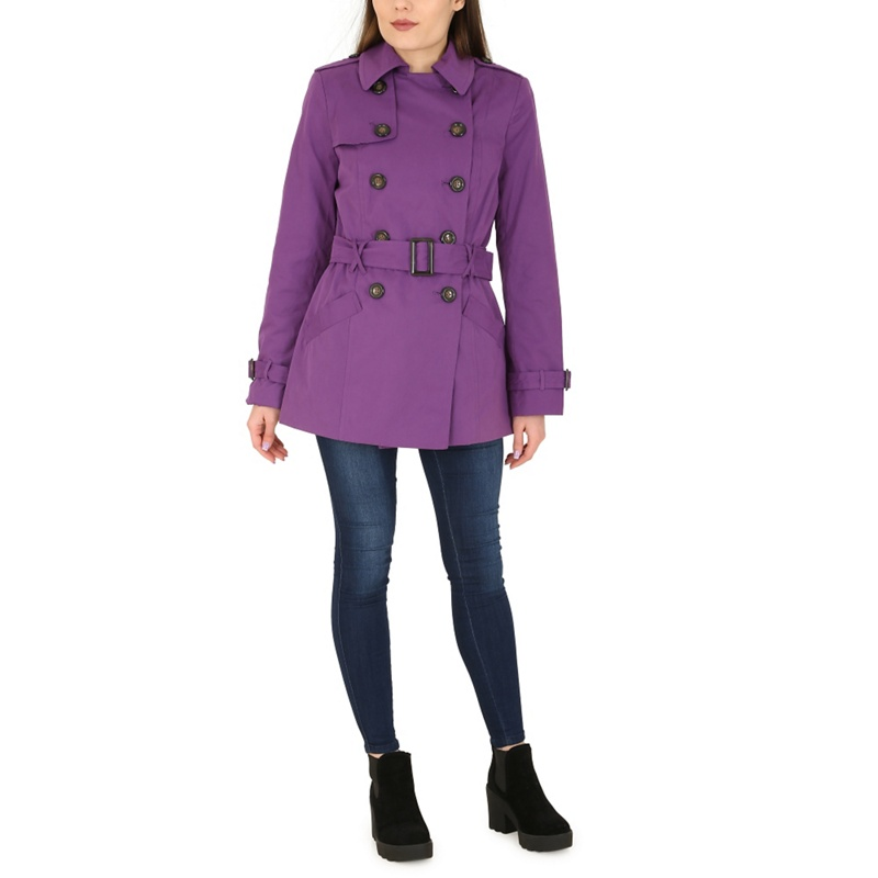David Barry Purple Trench Jacket, Womens, Size: 10