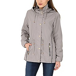 David Barry - Silver contoured hooded jacket