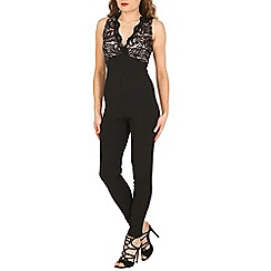Blue Vanilla - Black v neck lace jumpsuit