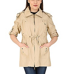 David Barry - Beige roll sleeve jacket
