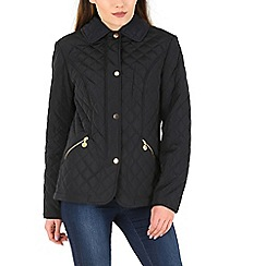 David Barry - Navy diamond quilted jacket