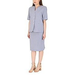David Barry - Lilac pencil skirt suit