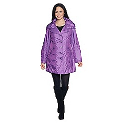 David Barry - Lilac drawstring collar raincoat