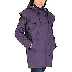 David Barry - Purple waterproof coat