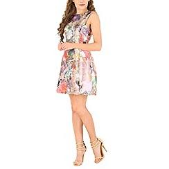 AX Paris - Pink metallic flower skater dress