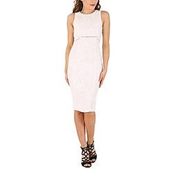 AX Paris - Cream high neck midi dress