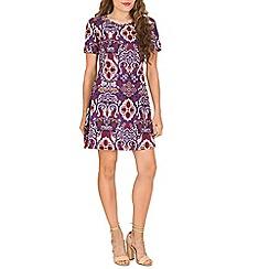 Indulgence - Multicoloured printed tshirt dress