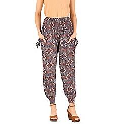 Izabel London - Multicoloured printed shirring waist pants