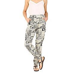 Izabel London - Cream print harem pants