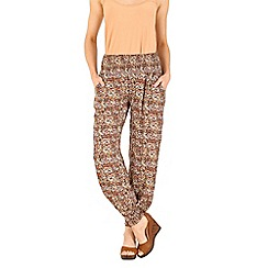 Izabel London - Orange optical printed trousers