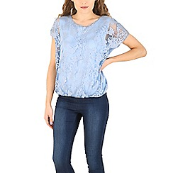 Izabel London - Light blue butterfly top