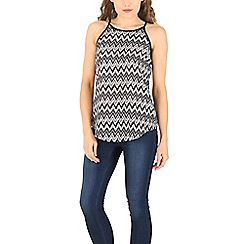 Izabel London - Black zig zag print top