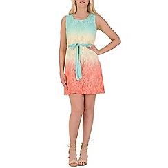 Izabel London - Blue floral lace overlay dress