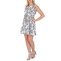Mela - White flower sketch dress
