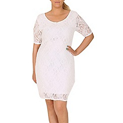 Samya - Cream lace bodycon dress