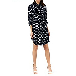 Poppy Lux - Sasha polka oversized shirt dress