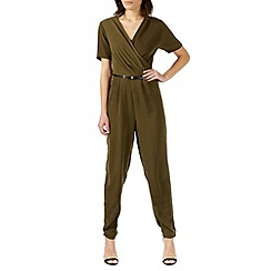 Poppy Lux - Green elegant v neck jumpsuit