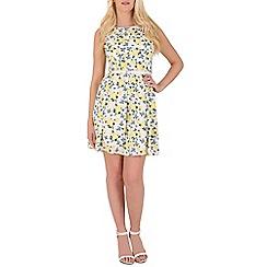 Mela - White floral  print dress