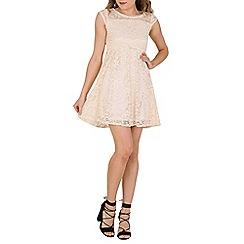 Tenki - Cream laced pleated dress