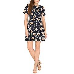 Voulez Vous - Navy floral print swing dress